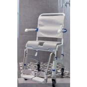 Shower commode - Aquatec Dual adjust. Tilts and reclines, includes padded seat