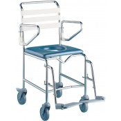 Shower Commode - K Care - Swing Away Footrest - Transit - Maxi 550mm 190kg - Stainless Steel