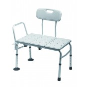 Bath Transfer Bench - with arm, plastic seat and backrest -227kg