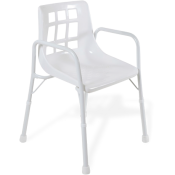 Shower Chair w Arms Aspire Wide 525mm Treated Steel 200kg
