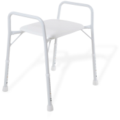 Shower Stool w Arms Aspire Wide 525mm Treated Steel 175kg