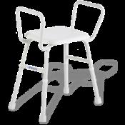 Shower Stool w Arms Aspire 495 Aluminium 175kg